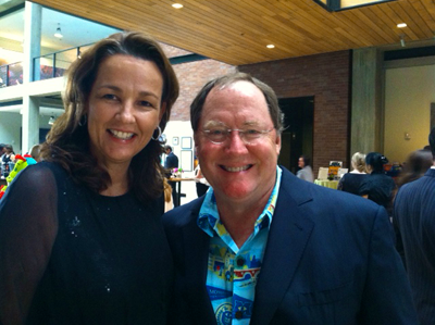 Connie Norlander and John Lasseter of Pixar